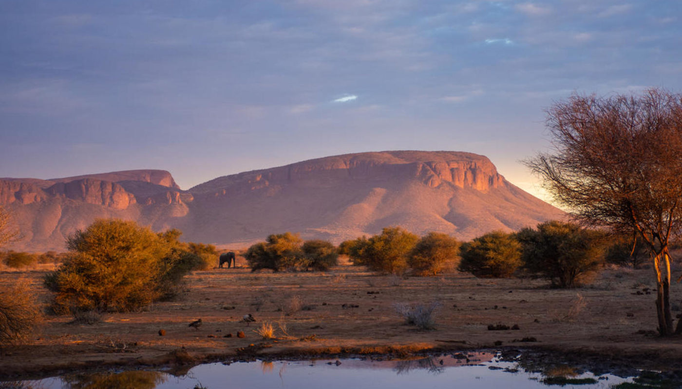 View of the Waterberg mountain from Marataba Explorers Camp